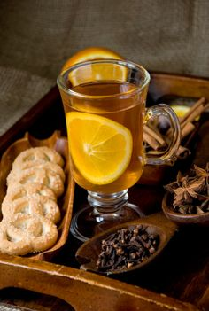 As the weather turns frigid, warm up with one of these delicious hot drinks. Winter Drinks, Holiday Drinks, Winter Food, Fun Drinks, Yummy Drinks, Beverages, Orange Tea, Tea Recipes, Drink Recipes
