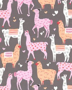 Packmates - For the Love of Llamas - Quilt Fabrics from www.eQuilter.com