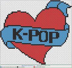 Fuse Beads, Hama Beads, Kpop Logos, Pixel Art Grid, Motifs Perler, Pearler Bead Patterns, Minecraft Creations, Diy Arts And Crafts, Cross Stitching