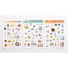 Design comma-B Oh my vintage deco sticker set - fallindesign