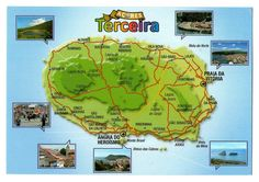 Azores Island - Map of Terceira
