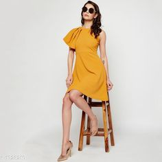 Checkout this latest Dresses Product Name: *Women's Solid Mustard Cotton Blend Dress* Sizes: M, L, XL Easy Returns Available In Case Of Any Issue   Catalog Rating: ★4.3 (194)  Catalog Name: Agrima Voguish Cotton Blend Women's Dresses Vol 1 CatalogID_254548 C79-SC1025 Code: 684-1928219-2721