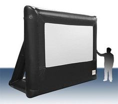Open Air Cinema 9' Pro Screen Home / Outdoor Theater System by Open Air Cinema. $2590.84. The 9x5 ft.Open Air Pro Screen is your portable, indoor/outdoor big screen solution. It will provide years of reliable use. The projection surface easily zips to the frame. The frame inflates in seconds with the low-noise blower. To deflate simply turn off and detach the blower. The screen is wind rated up to 30 mph.