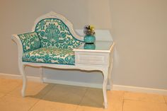 Sam Cannell's Re-Love Project: The Gossip Table – Telephone Table and Chair (AFTER)