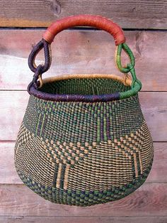 Large Pot-Shaped Basket #3 - Just Africa Art Gallery and Retail Shop -