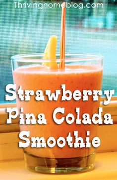 Strawberry Pina Colada Smoothie Recipe 1 cup water 1 cup unsweetened coconut milk 1 cup crushed ice (more if not using frozen fruit) 1 banana 2 cups strawberries (frozen or fresh) 2 cups pinneapple (frozen or fresh) Strawberry Pina Colada Smoothie Recipe, Juice Smoothie, Smoothie Drinks, Fruit Smoothies, Healthy Smoothies, Healthy Drinks, Smoothie Recipes, Healthy Desserts, Eating Healthy