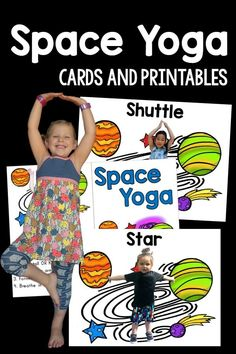 Kids Yoga - Space theme with real kids in the pictures!