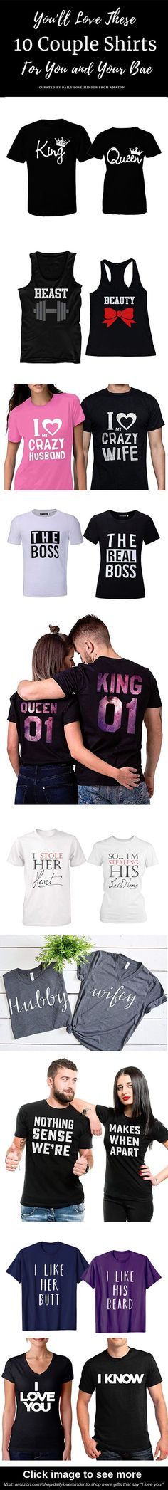 cedff31342027 Daily Love Minder's Amazon Page. Great Anniversary GiftsPerfect CoupleFunny  RelationshipLove GiftsGifts For HimCouple ShirtsMatching ...