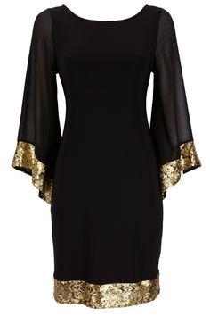 Black and gold kimono style