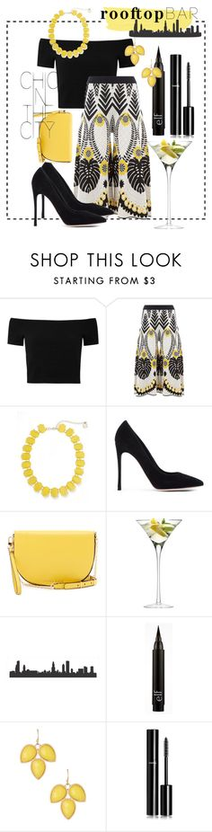 """""""Rooftop Bar"""" by amyjoydesigns ❤ liked on Polyvore featuring Alice + Olivia, Temperley London, Erica Lyons, Gianvito Rossi, Trina Turk, LSA International, Natasha Accessories and Chanel"""
