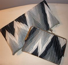 Liana Dean Couture Clutches :)     Aztec Style Design    http://miss-sewing.blogspot.ca/2012/11/how-to-make-your-own-clutch-handbag-diy.html