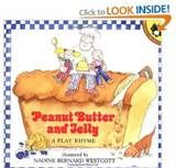 A cute lyrical book that gets kids involved with the chant and the action of making a peanut butter and jelly sandwich.  You just might find yourself chanting it out of the blue...it's that catchy.  After the story, why not get those little hands busy making their own pb & J sandwich?
