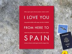I Love You From Here To SPAIN art print