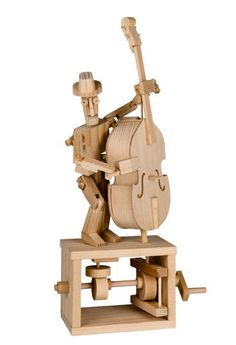 Timberkits Double Bass Player Self-Assembly Wooden Construction Moving Model Kit Hobby Kits, Hobby Supplies, Kinetic Toys, Wooden Model Kits, Double Bass, Woodworking Toys, Timber Wood, Wood Toys, Craft Kits