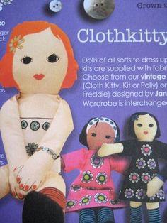 My dolls in the Clothkits catalogue