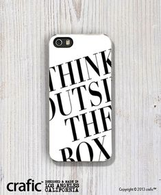 Think Out Side The Box iPhone Case iPhone 5 / 5S Case by CRAFIC