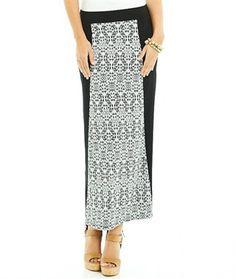KATIES PRINT PANEL MAXI SKIRT Buy women's clothing online.