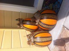 Duct tape pumpkins