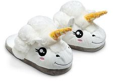 How do you get this magical boost? With Plush Unicorn Slippers, of course! Plush Unicorn Slippers are as cozy and warm as they are adorable and magical. Slide your feet into the unicorns and your morning routine will be more pleasurable. Brushing your teeth? Fun! Flossing? Easy! Styling your mane...  #plush slippers #slippers #unicorn