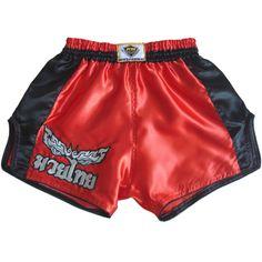 Black Shorts Pants Muay Thai Kick Boxing Satin Men Wear Size L มวยไทย Letter