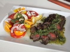Marinated Flank Steak with Chimichurri Sauce : Recipes : Cooking Channel