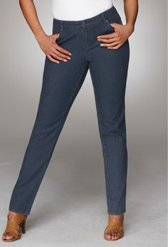 Plus Size Petite Broadway Straight Leg Jean | Avenue. These really are great jeans for petite-sized women.