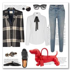 """""""For Dog Lovers"""" by angelicallxx ❤ liked on Polyvore featuring Thom Browne, GRLFRND, Robert Clergerie, By Malene Birger, Mi Jong Lee, Alexander McQueen, Lanvin and statementbags"""