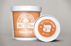 Old Port Ice Cream / Justin Barber Ice Cream Logo, Ice Cream Companies, Ice Cream Packaging, Fashion Packaging, Old Port, Butter Pecan, Retro, Gelato, Packaging Design