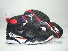 AIR JORDAN RETRO 8 BLACK WHITE RED OFFRES DE NOËL Only  68.00  e94b2c25d