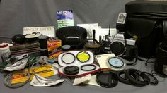 Huge Lot of Minolta 35mm Camera Equipment w Lenses Manuals Filters Film Etc | eBay