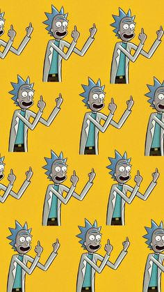 Wallpaper Rick, color mostaza. Made by: @stefaniaperezr
