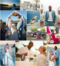 Beach wedding in Chania area followed by hotel terrace reception ...Link in description... Crete, Real Weddings, Terrace, Wedding Planner, Reception, Polaroid Film, Product Description, Link, Beach