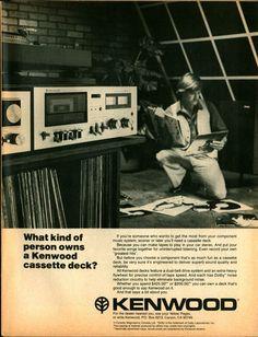 1979 KENWOOD Cassette Deck Original Vintage B AD