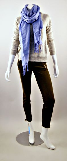 J Brand RTW Minnie Sweatshirt and J Brand Jewel Zip Skinny Jeans