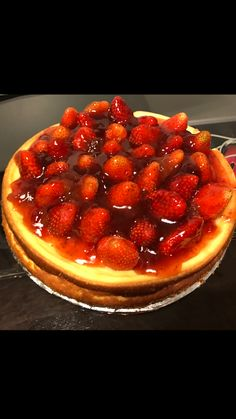 Strawberry Cheesecake made to order follow me Marie's Divine Catering on Facebook inbox for all orders