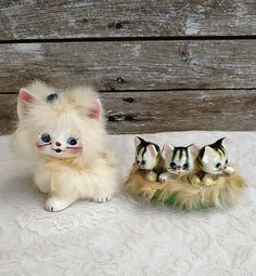 Vintage Mid Century Japan Ceramic Cat Figurine, Vintage Kitschy Kitty Cat, Anthropomorphic Cat Kittens Set of Figurines, Cat lovers Gift Cat Lover Gifts, Cat Lovers, Lovers Gift, Etsy Vintage, Vintage Shops, Vintage Easter, French Country Decorating, Vintage Ceramic