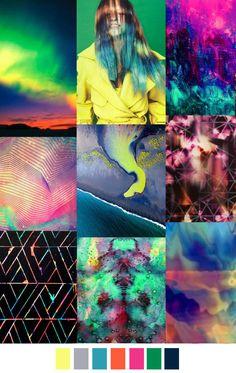 Aurora Borealis 2016 trends these colors Color Trends, Color Combos, Color Schemes, Aurora Borealis, Fashion Colours, Colorful Fashion, Palette Design, Winter Typ, Fashion Forecasting