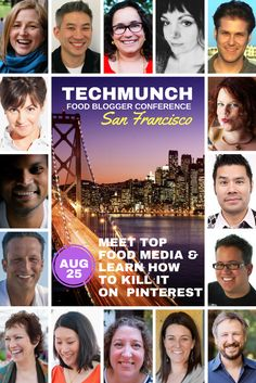 http://techmunchsf.com   -- AUG 25, 2017   The traveling TECHmunch Conference returns to San Francisco on August 25th with a full day of networking, educational sessions, tastings, and demos — all designed to help you take your content creation and monetization efforts to the next level.   food blog   food blogger   conference   social media   pinterest   food photography   make money as a blogger   how to grow your blog