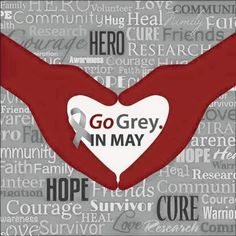 """May is brain tumor & brain cancer awareness month. Pray for everyone who has brain cancer. My """"little friend"""" Savannah had brain cancer, and she is currently all clear. Brain Cancer Awareness, Childhood Cancer Awareness, Lung Cancer, Brain Tumor, Brain Injury, Going Gray, How To Raise Money, The Cure, Grey"""