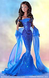 September Birthstone Barbie   2003) Barbie Birthstone Series - African-American - NRFB....$49.99 ...