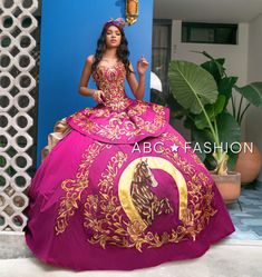 2 Piece Quinceanera Dresses, Charro Quinceanera Dresses, Quinceanera Ideas, 15 Dresses Pink, Sweet 15 Dresses, Mexican Style Dresses, Quince Dresses Mexican, 15 Birthday Dresses, Vestido Charro