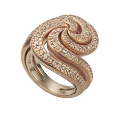 H.Stern Iris ring in rose and noble gold with diamonds