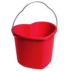 Red Love Heart Bucket, £4.75