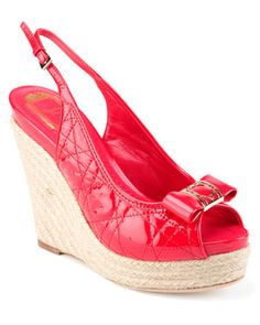 """Christian Dior """"Cannage"""" Patent Leather Wedge Sandal"""