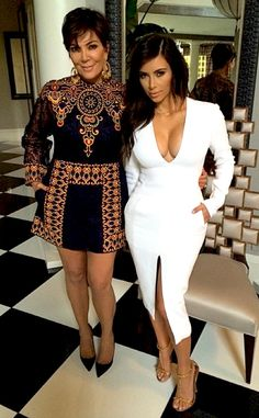 Kim and Kris snapped a photo at home together in 2014.