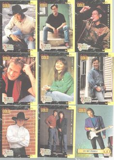 Country Gold Music Trading Cards CMA Stars Sterling Cards 1993 Lot of 112