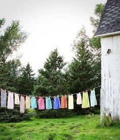 Hang out clothes, if you have the space. A joy that helps conserve energy.