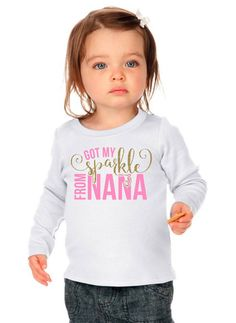 Got My Sparkle From Nana | Girl's Shirt