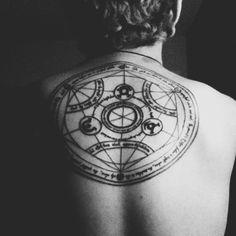 human transmutation circle tattoo. love it!