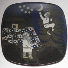 Arabia Finland Kalevala Annual Plate design Raija Uosikkinen 1987